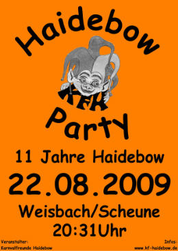 Haidebow-Party  2009